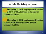 article 27 salary increase