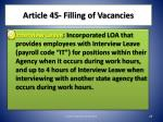 article 45 filling of vacancies