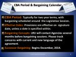 cba period bargaining calendar
