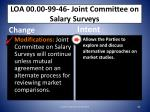 loa 00 00 99 46 joint committee on salary surveys