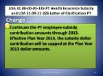 loa 31 00 00 05 135 pt health insurance subsidy and loa 31 00 11 226 letter of clarification pt