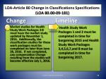 loa article 80 change in classifications specifications loa 80 00 09 1811