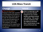 loa mass transit