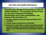 loa safe and healthy workplaces