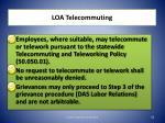 loa telecommuting