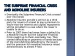 the subprime financial crisis and monoline insurers