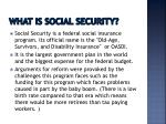 what is social security