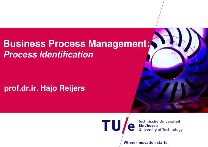 business process management process identification n.
