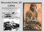 wounded knee sd 1890
