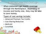 marketplace cost savings