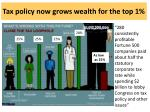 tax policy now grows wealth for the top 1