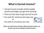 what is earned income