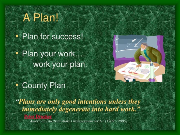 A Plan!
