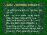 county coordinator position is