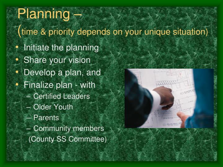 Planning –