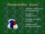 responsibilities shared