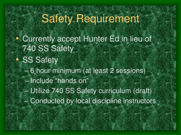 Safety Requirement