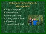 volunteer recruitment management