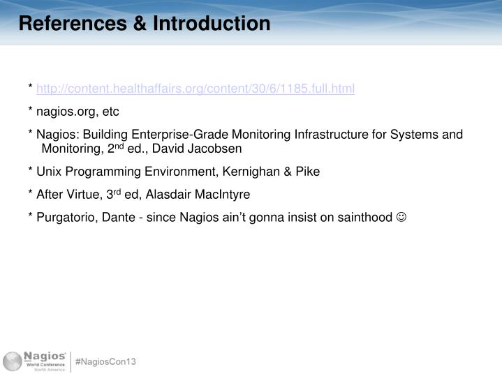 References introduction