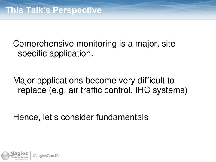 This Talk's Perspective