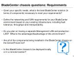 bladecenter chassis questions requirements