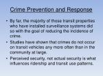crime prevention and response