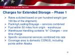 charges for extended storage phase 1