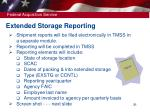 extended storage reporting