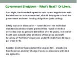 government shutdown what s next or likely