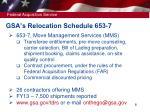 gsa s relocation schedule 653 7