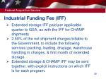 industrial funding fee iff