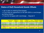 status of dod household goods offsets