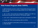 web protest program web tarps