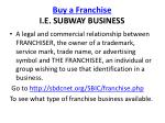 buy a franchise i e subway business