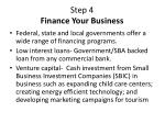 step 4 finance your business