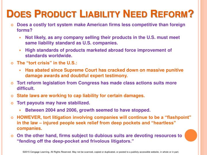 product liability essay question Defective or dangerous products are the cause of thousands of injuries every year in the us product liability law, the legal rules concerning who is responsible.