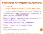 interference with prospective advantage
