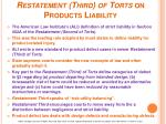 restatement third of torts on products liability