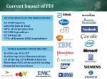 current impact of fdi