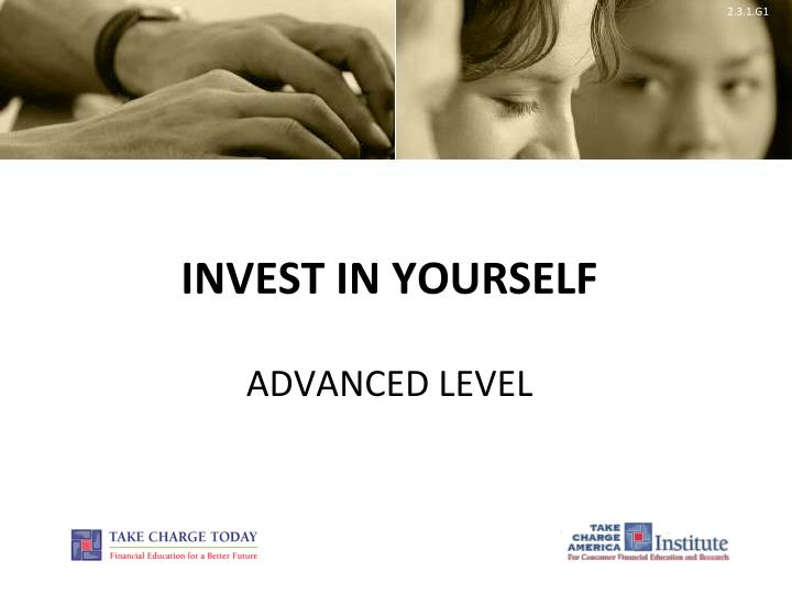 invest in yourself advanced level n.