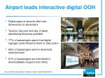 airport leads interactive digital ooh