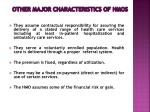 other major characteristics of hmos