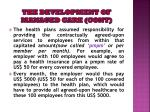 the development of managed care cont6