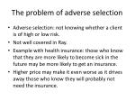 the problem of adverse selection