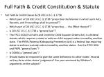 full faith credit constitution statute