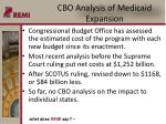 cbo analysis of medicaid expansion