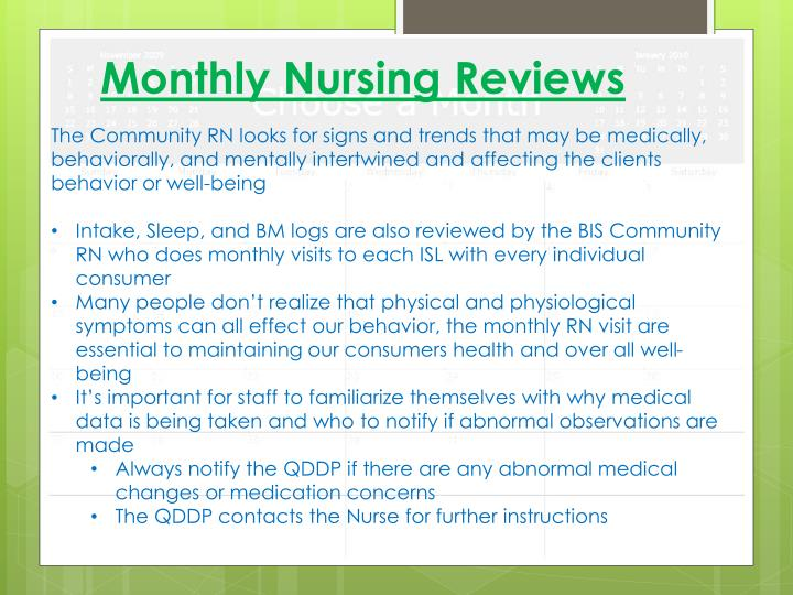 Monthly Nursing Reviews