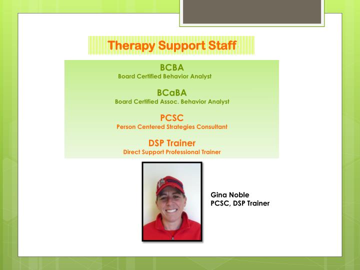 Therapy Support Staff