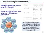 competitive strategies and outsourcing