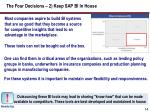 the four decisions 2 keep sap bi in house